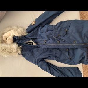 Abercrombie & Fitch Navy Blue Winter Coat